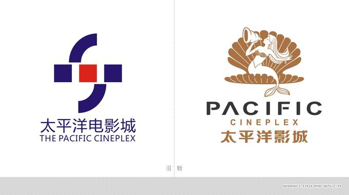 """太平洋影城发布""""美人鱼""""新logo-logo11设计网"""