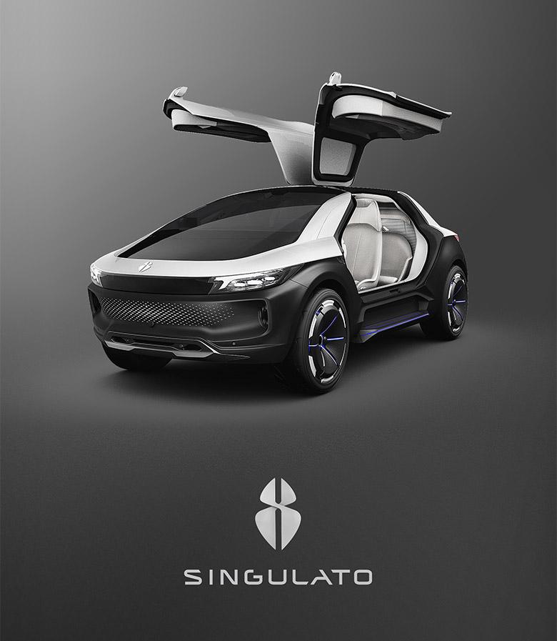 """电动车品牌""""奇点汽车""""发布全新logo"""