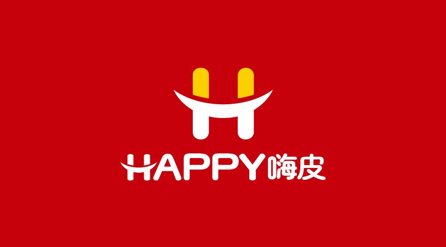 武汉嗨皮快餐品牌标志设计