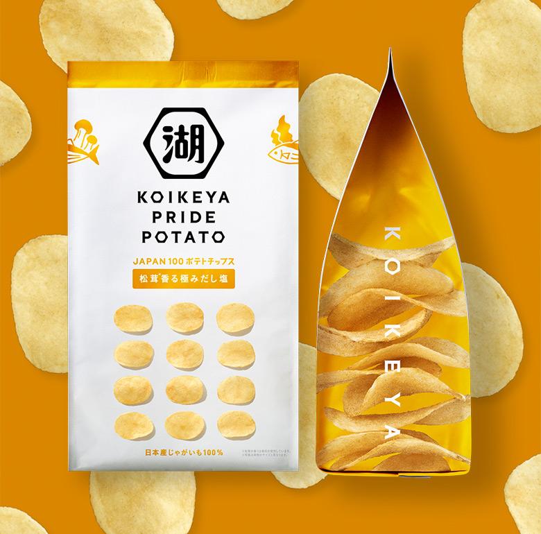 """日本休闲食品品牌""""湖池屋""""更换新LOGO和新包装"""