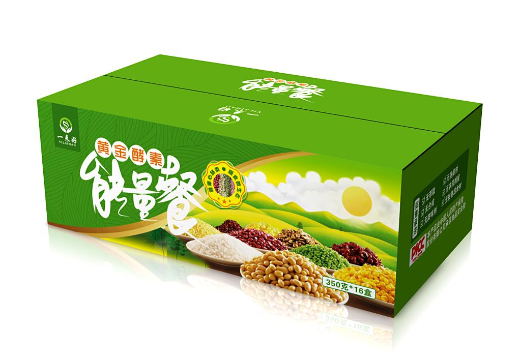 一来好黄金酵素包装盒设计