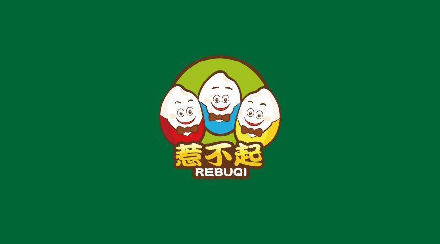 惹不起张记粥店卡通形像设计-logo11设计网图片