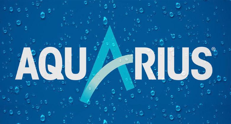 aquarius_可口可乐运动饮料aquarius(水动乐)重新设计logo和包装