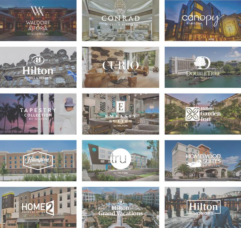 """希尔顿全球酒店集团摒弃""""H""""标志,启用简洁新LOGO"""