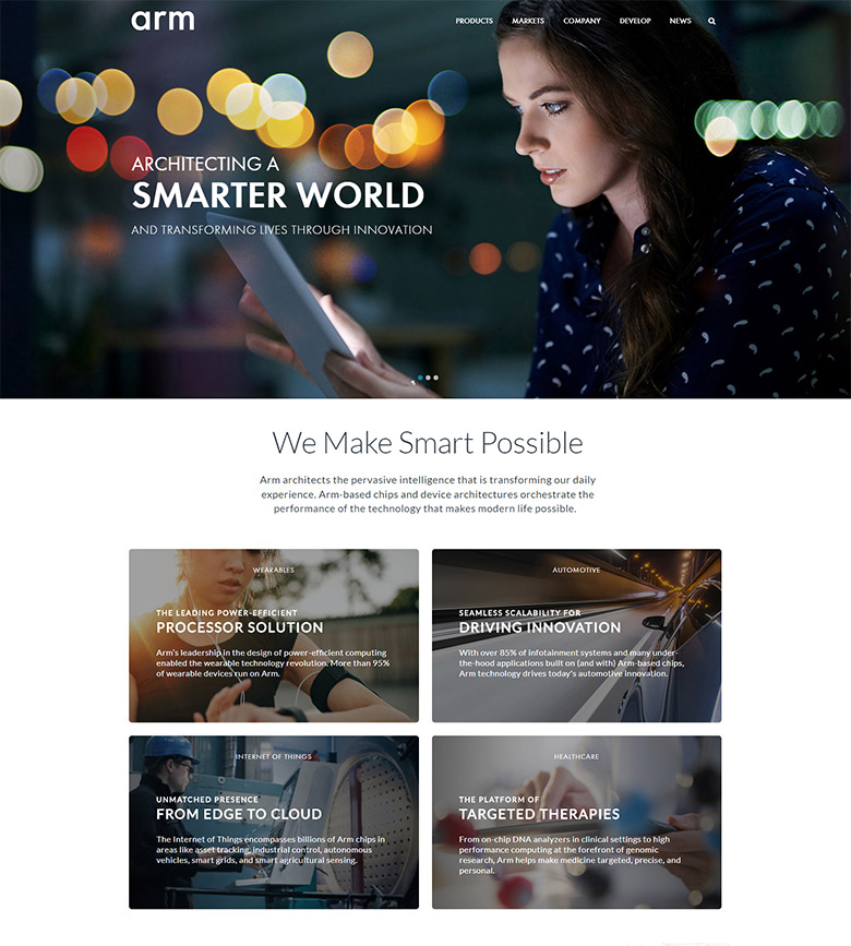 全球领先的半导体知识产权提供商ARM(安谋控股)更换新LOGO
