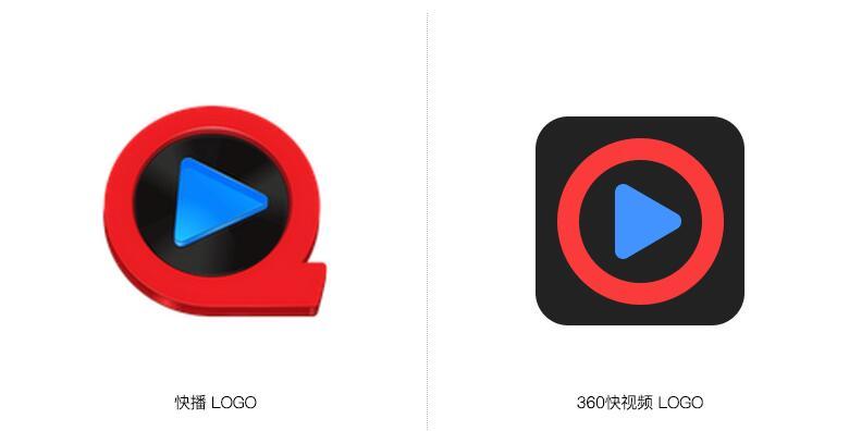"""360发布短视频""""快视频""""平台,LOGO和快播几乎一模一样"""