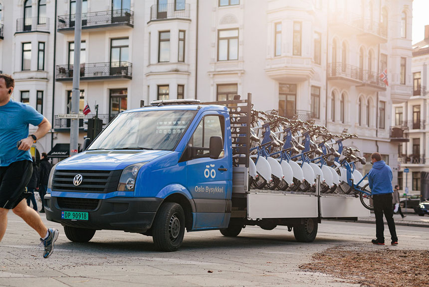 2017D&AD全球创意设计大赛获奖LOGO奥斯陆城市自行车标志