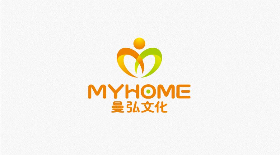 乌鲁木齐曼弘文化传媒标志设计-logo11设计网