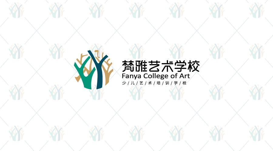 梵雅艺术学校logo设计