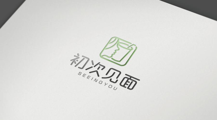 初次见面奶茶店LOGO设计