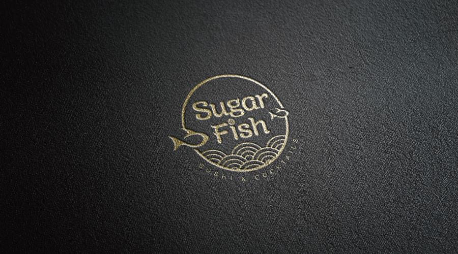 SUGARFISH海鲜寿司店logo设计