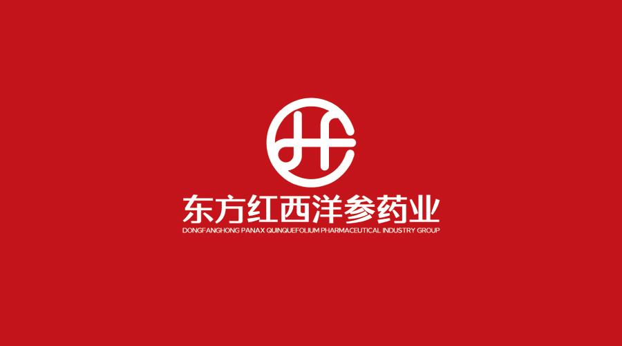 吉林东方红西洋参药业品牌LOGO设计